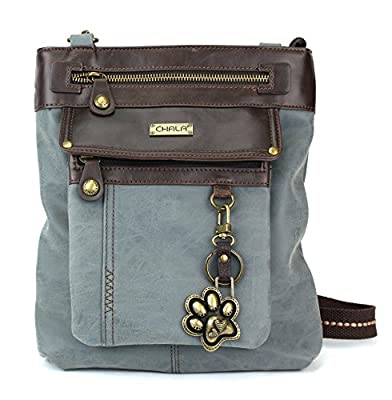 Chala GEMINI Crossbody Faux Leather Gift Messenger Bag with Double Zip Wallet
