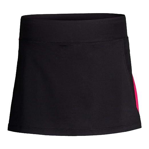 0ec6d224 Fila Women's Sleek Streak Slit Skort, Black, Ruby Rose, Sleek Multi ...