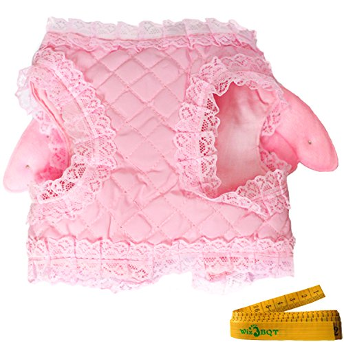 Pink Cute Adorable Pet Cat Dog Harness and Leash Set with Lace Artificial Pearl Angel Wing (Extra Small) by Wiz BBQT (Image #5)