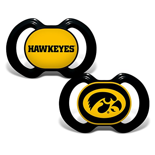Baby Fanatic 2 Piece Pacifier Set, University of Iowa Hawkeyes