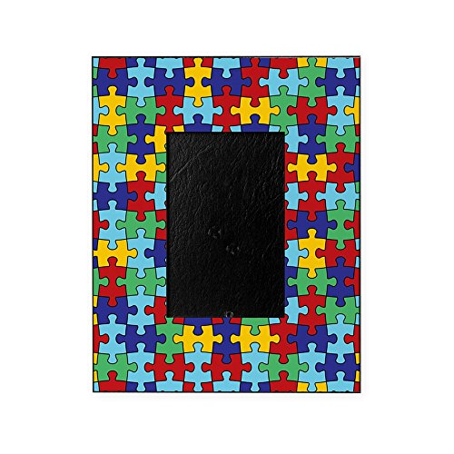 CafePress - Autism Awareness Puzzle Piece Pattern Picture Fram - Decorative 8x10 Picture Frame