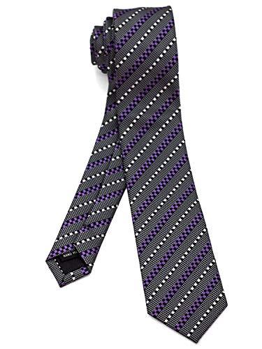 WANDM Men's slim skinny tie necktie width 2.4