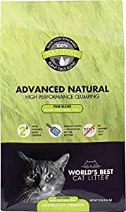 World's Best Cat Litter Advanced Naturals Scented Pine Blend Multi Cat Litter, 12-Pound Bag