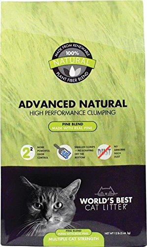 World's Best Cat Litter Advanced Naturals Scented Pine Blend Multi Cat Litter, 12-Pound Bag