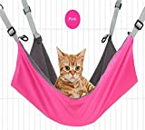 Vivi Bear cat Hammock Bed Comfortable durable washable All year round Hanging Pet Hammock Bed for Cats Small Dogs Rabbits Mink and other Small Animals 22 x 17 in 3 colors Rose red