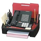 55200 Compucessory Telephone Stand & Organizer - 5'' Height x 11.5'' Width x 9.5'' Depth - Plastic - Black