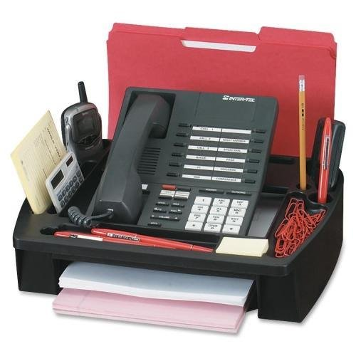 55200 Compucessory Telephone Stand & Organizer - 5'' Height x 11.5'' Width x 9.5'' Depth - Plastic - Black by Compucessory