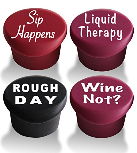 VinoPlease-4-Wine-Stoppers-with-GiftBox-Reusable-Silicone-Caps-to-Seal-Bottles