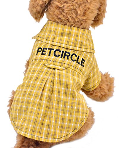 Yellow Power Costume Ranger Original (Uniquorn 2017 Spring Summer New Fashion Pet Clothes Plaid Shirt Dog)