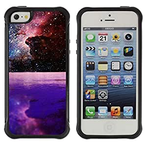 Hybrid Anti-Shock Defend Case for Apple iPhone 5 5S / Beautiful Galaxy Space Planet