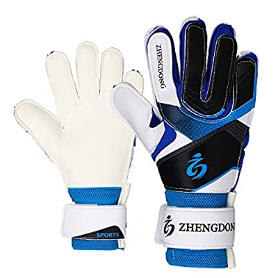 Coodoo Kids & Youth Soccer Goalkeeper Gloves, Strong German Latex Palm,Double Rip-Tab Strap, Junior Indoor & Outdoor Goalie Gloves for Girls and Boys(Size 8-9)