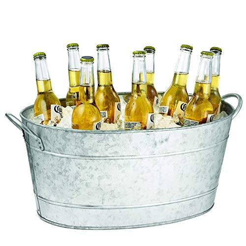 Tablecraft IR 4033 Wine Cooler, Bucket, 23 x 14.5 x 9.5, Silver ()