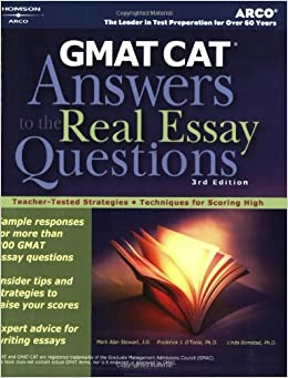 Book Gmat Cat Answers Tothe Real Es: Answers to the Real Essay Questions Arco GMAT Answers to the Real Essay Questions
