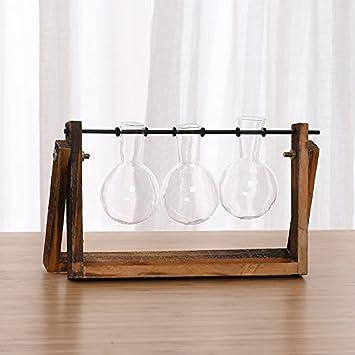 KPHY-Hidroponía Plantas Botellas de Vidrio Decoraciones Tallado Vidrio Transparencia Adornos Moderno Simple C