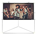 "Pyle 84"" Outdoor Portable Matt White Theater TV Projector Screen w/ Triangle St"