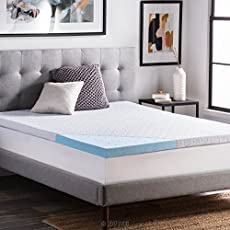 lucid 25 inch gel infused ventilated memory foam mattress topper with removable tencel blendu2026