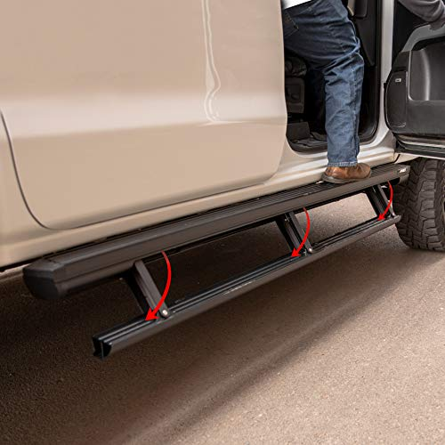 ARIES 3047912 ActionTrac Truck Powered Running Boards with Retractable, Electric Side Steps Black 79-Inch Fits Select Dodge Ram 1500, 2500, 3500 Crew Cab (Dodge Motorsports Magnet)
