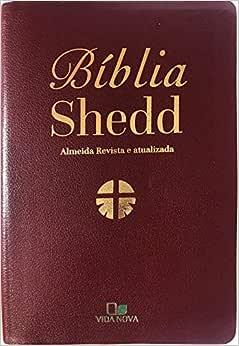 Bíblia Shedd - Couro Bonded Bordô - Capa nova com acabamento luxo.
