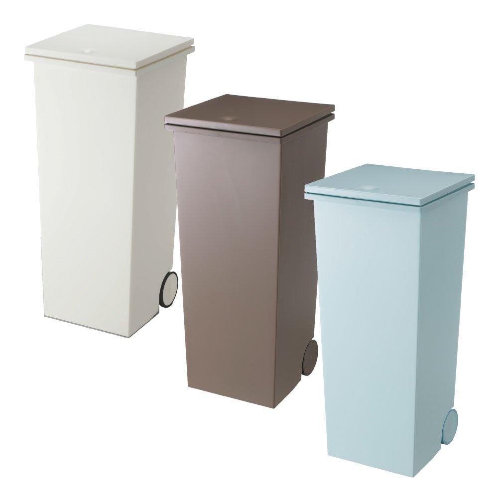 岩谷マテリアル kcud スクエア プッシュペール 3個セット ゴミ箱 ごみ箱 ダストボックス おしゃれ ふた付き クード (Wホワイト×オールブラウン×オールブルーグリーン) B0742BLQ2M Wホワイト×オールブラウン×オールブルーグリーン Wホワイト×オールブラウン×オールブルーグリーン