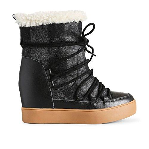 Shoe Negro Para Botines Wool The 110 Check Trish Mujer Bear black SSrAO