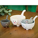 Bits and Pieces – Ceramic Cat Measuring Cups – Home and Kitchen Décor – Make Adorable Addition to Any Kitchen - Nest Together In a Cute Stack