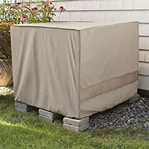 Weather wrap square central air conditioner cover garden outdoor for Central air conditioner covers exterior