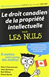 img - for Le droit canadien de la proprit intellectuelle Pour Les Nules / Canadian Intellectual Property Law For Dummies French (Custom) book / textbook / text book