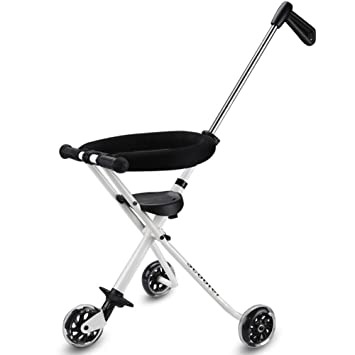 c5209710c18 3 Wheels Baby Stroll Artifact Children Trolley Folding Lightweight Portable  Baby Tricycle Tourism Kids Trike Child (Color : White): Amazon.co.uk:  Garden & ...