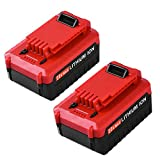 20V 4.0Ah High Capacity Battery for Porter Cable 20V Lithium-ion Battery PCC685LP PCC680L PCC685L PCC682L Cordless Power Tool 2 Packs