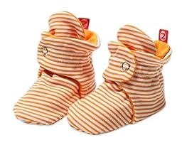 Zutano Unisex-Baby Newborn Candy Stripe Booties, Orange, 3 Months