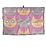 RUNNING BEAN Cat Golf Towel Fashion Sports Towel Player Towel