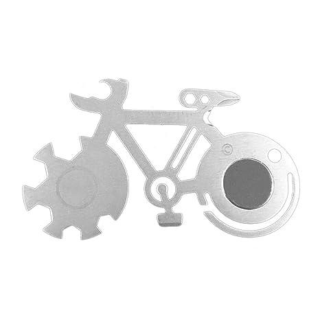 KiGoing Llave de reparación de Bicicletas multifunción, portátil Conveniente y Duradera Tarjeta de Herramienta de