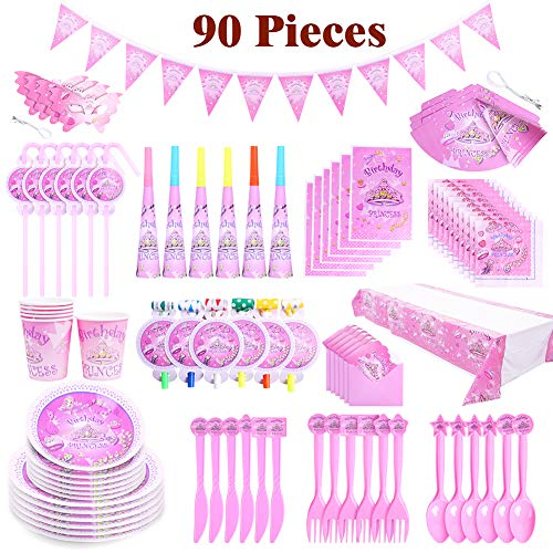 Birthday Party Products Including Tablecloths,Napkins,Straws,Paper Cups,Plates, Horns,Blowers,Eye Masks,Pennants,Birthday Hats,Gift Bags,Invitation Cards,Plastic Forks/Knives/Spoons