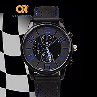 hommes bande men dial analog de montre watch weite fr p en square quartz carr cuir double leather band watches des zone cadran pu