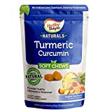 Healthy Delights Naturals, Turmeric Curcumin Soft Chews, Promotes Healthy Inflammation Response, 100 mg of Turmeric per chew, Delicious Tropical Fruit Flavor, 30 Count