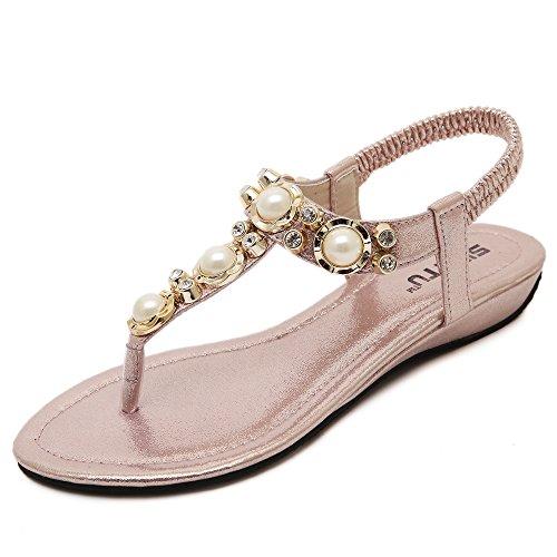 G-like - Sandalias de vestir para mujer Rosa