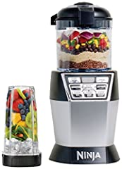 With one base and two interchangeable vessels, the 1200-watt Nutri Ninja Nutri Bowl DUO with Auto-iQ Boost easily switches from a powerful Nutrient &Vitamin Extractor (extract a drink containing vitamins and nutrients from fruits and vege...