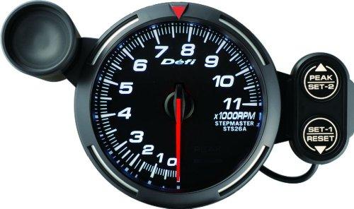 Defi DF12103 Racer Tachometer, 11000 RPM, White, 80mm