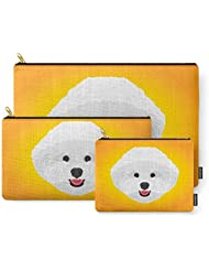 Society6 Bichon Frise Carry-All Pouch