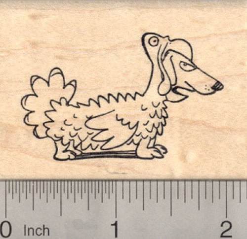Thanksgiving Dachshund Dog Rubber Stamp, in Turkey Costume