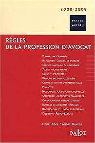 Règles de la profession d'avocat par Henri Ader