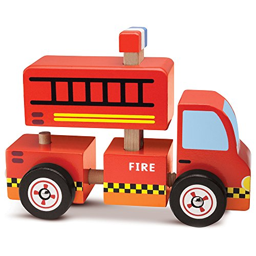 Wooden Wonders Put-It-Together Fire Engine - 2-in-1 3D Assembly Puzzle (8pcs.) by Imagination Generation