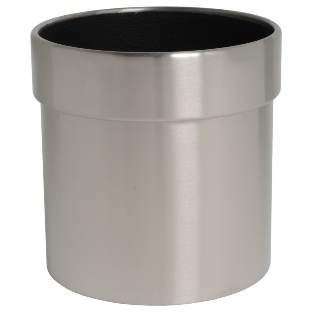 hydroflora 61426520 planter Value Line Cycle Edge, diameter 30 cm, height 30 cm, V4A stainless steel, matte brushed finish
