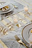 Kitchen Papers Gray and Gold Marbled Paper Placemat