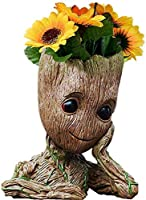 B-Best Guardians of The Galaxy Groot Pen Pot Tree Man Pens Holder or Flower Pot with Drainage Hole Perfect for a Tiny...