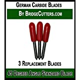 German Carbide Premium Blade Replacement Cutting Blades for Craft Cutting Machines Bridge, Cricut Explore Air Expression Mini Cuddle Creation, Refine, Scan N Cut, 3 fine point blades