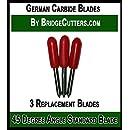 German Carbide Premium Blade Replacement Cutting Blades for Craft Cutting Machines Bridge, Cricut Explore Air Expression Mini Cuddle Creation, Refine, Scan N Cut, 3 fine point blades