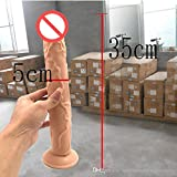ZHS 35*5CM Realistic Dildo Flexible Penis Dick with Strong Suction Cup Adult Sex Products Sex Toys for Woman Fake Dicks Q99(1PC)