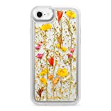 Casetify Real Flower iPhone 7/8 Case Pressed Dried Flowers with Rose Gold Foil Flake Hard Back Cover and Frost Shockproof Drop Proof Bumper and Wireless Charging Compatibility for Apple iPhone 7/8