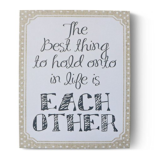 (Barnyard Designs The Best Thing to Hold onto in Life is Each Other Wooden Box Wall Art Sign, Primitive Country Farmhouse Home Decor Sign with Sayings 10